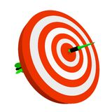 3d arrow pierce dartboard Stock Photo
