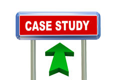 3d arrow road sign - case study. 3d rendering of moving arrow and roadsign singpost of of concept of case study Stock Photos