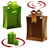 3d Arrow Shopping Bag Stock Images