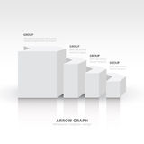 3d arrow staircase diagram business step white color balance Royalty Free Stock Photos