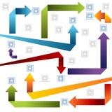 3d Arrow Style Chart vector illustration