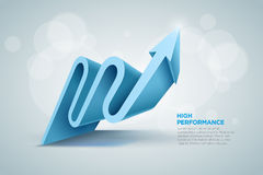 3D arrow. Vector 3d arrow graph illustration Royalty Free Stock Image