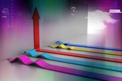 3d arrows. In color background Stock Photography