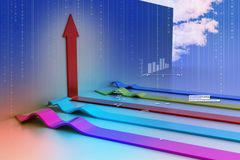3d arrows Stock Photo