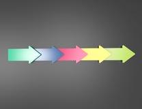 3d arrows design element. On blackboard Royalty Free Stock Photo
