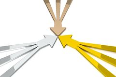 3D Arrows - Gold / Silver / Bronze Stock Photos