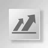 3D arrows icon Business Concept. 3D Symbol Gray Square arrows icon Business Concept Royalty Free Stock Photography