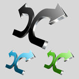 3D Arrows Logo Royalty Free Stock Photography