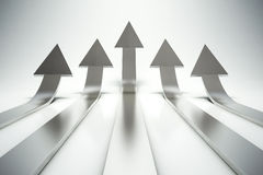 3d arrows pointing up Stock Images