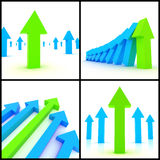 3d arrows Royalty Free Stock Photos