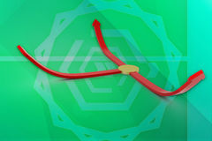 3d arrows in to different direction illustration Royalty Free Stock Images