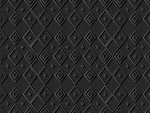 3D art de papier foncé Diamond Check Cross Rhomb Geometry Images libres de droits