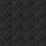 3D arte de papel escura Diamond Check Cross Geometry Frame Fotos de Stock Royalty Free