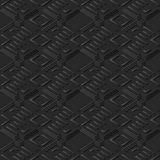 3D arte de papel oscuro Diamond Check Cross Geometry Frame ilustración del vector