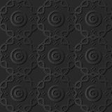 3D arte de papel oscuro Dot Curve Cross Frame Line redondo Foto de archivo libre de regalías