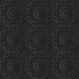 3D arte di carta scura Dot Curve Cross Frame Line rotondo royalty illustrazione gratis