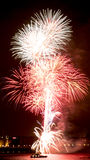 D'artifice Λίβερπουλ πυροτεχνημάτων des feux στοκ εικόνα