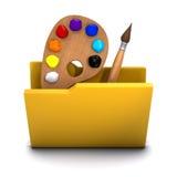 3d Artist folder icon Royalty Free Stock Photos