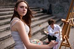 D'artiste toujours concept de ville de peinture de la vie Image libre de droits