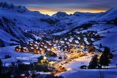 D'Arves Свят-Джина, горные вершины, Франция стоковое изображение