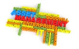 3d asset management word cloud Stock Photos