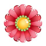 Flower color red glossy jelly icon. Stock Images
