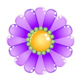 Flower color purple glossy jelly icon. Stock Photography