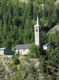 d'Assyrie kerk heilige-Jacques in Tignes, Frankrijk Royalty-vrije Stock Foto's