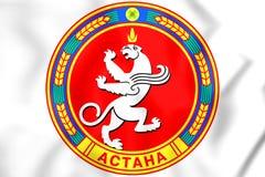 3D Astana coat of arms, Kazakhstan. Stock Photos