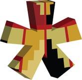 3d ASTERISKsymbool Royalty-vrije Stock Afbeeldingen