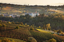 d'Asti Costigliole (Piedmont, Ιταλία) στοκ φωτογραφία με δικαίωμα ελεύθερης χρήσης