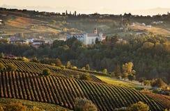 d'Asti di Costigliole (Piemonte, Italia) fotografia stock libera da diritti