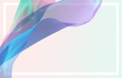 3D astratti rendono l'illustrazione Tessuto di seta volante Wave, ondeggiante Royalty Illustrazione gratis