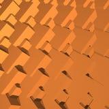 3D astratto blocca la geometria Fotografie Stock Libere da Diritti