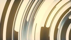 3d astratto che rende composizione dei cerchi colorati Animazione generata da computer del ciclo Reticolo geometrico royalty illustrazione gratis