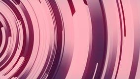 3d astratto che rende composizione dei cerchi multicolori Animazione generata da computer del ciclo Reticolo geometrico 4k UHD illustrazione vettoriale