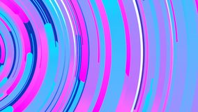 3d astratto che rende composizione dei cerchi multicolori Animazione generata da computer del ciclo Reticolo geometrico 4k UHD illustrazione di stock