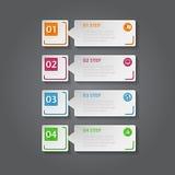 3D astratto Infographic digitale Immagini Stock