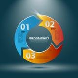 3D astratto Infographics Illustrazione di vettore per la vostra presentazione di affari Fotografia Stock Libera da Diritti