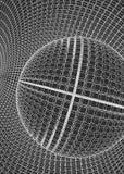 3d astratto Mesh Sphere distorto Illuminated Segno al neon Tecnologia futuristica HUD Element Elegante distrutto grande Fotografia Stock Libera da Diritti