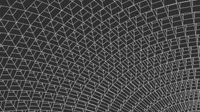 3d astratto Mesh Sphere distorto Illuminated Segno al neon Tecnologia futuristica HUD Element Elegante distrutto grande Immagine Stock