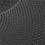 3d astratto Mesh Sphere distorto Illuminated Segno al neon Tecnologia futuristica HUD Element Elegante distrutto grande Immagini Stock Libere da Diritti