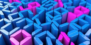 3D astratto numera il fondo generato da computer rende illustrazione di stock