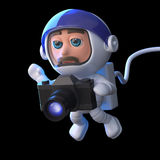 3d Astronaut photographer Stock Photo