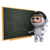 3d Astronaut teaches Royalty Free Stock Photo