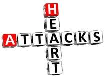 3D ataków serca Crossword Zdjęcie Royalty Free