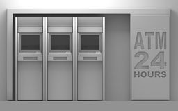 3d atm matchine. 24 house units Stock Images