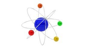 3d atom Fotografia Royalty Free