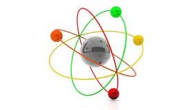 3d atom Zdjęcia Stock