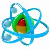 3d atom Fotografia Stock